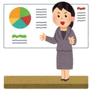 free-illustration-presentation-woman-irasutoya